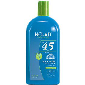best sunscreen no ad water resistant spf 45